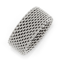 Tiffany Inspired Sterling Silver Mesh Ring