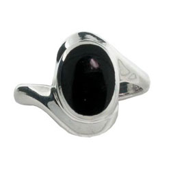 Sterling Silver Ring with Black Onyx