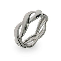 Traditional Woven Sterling Silver Band