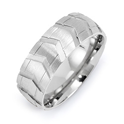 Men's Stainless Steel Tire Ring