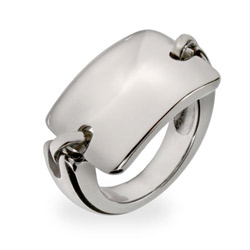 Rectangle Bar Stainless Steel ID Saddle Ring