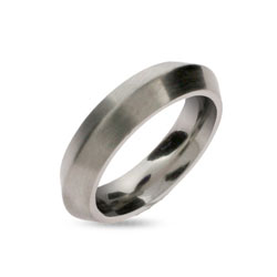 Dome Shaped Stainless Steel Wedding Band