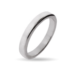 3mm Sterling Silver Flat Wedding Band