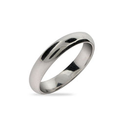 Classic 4mm Sterling Silver Wedding Band