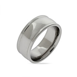 Engravable Stainless Steel Domed Message Ring