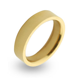 18K Gold Plated 5mm Stainless Steel Band
