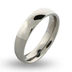 Mens Engravable 5mm Titanium Band