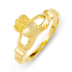 Gold Vermeil Sterling Silver Claddagh Ring