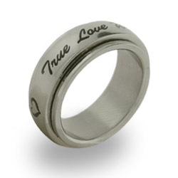 True Love Waits Stainless Steel Purity Spinner Ring