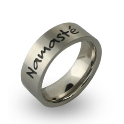 Stainless Steel Engravable Namaste Band