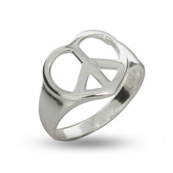 Sterling Silver Peaceful Heart Ring