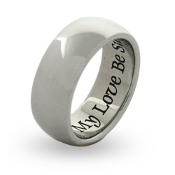 Of My Love Be Sure Engravable Poesy Ring