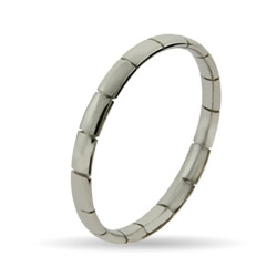 Stackable Reflections Thin Ribbed Silver Stackable Ring