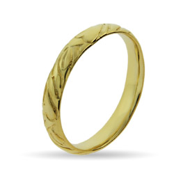 Stackable Reflections Gold Vermeil Engraved Stackable Band