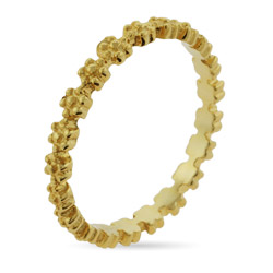 Stackable Reflections Gold Vermeil Ring of Flowers Stackable Ring