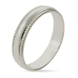 Stackable Reflections Sterling Silver Milgrain Edge Stackable Ring