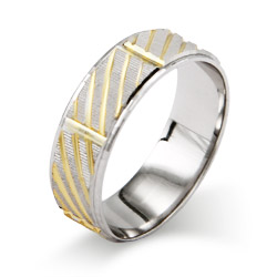 Eternity by Eve Golden Modern Sterling Silver Wedding Ring