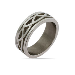 Mens Celtic Knot Engravable Ring