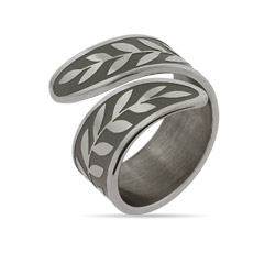 Engravable Vine Design Spoon Ring