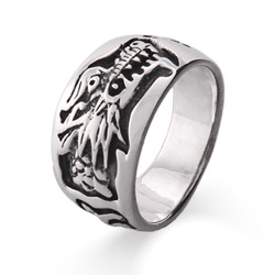 Sterling Silver Chinese Dragon Ring