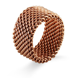 Tiffany Inspired Rose Gold Mesh Ring
