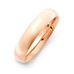 5mm Rose Gold Stainless Steel Wedding Band