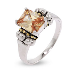 Steven Lagos Inspired Ring with Champagne Cubic Zirconia
