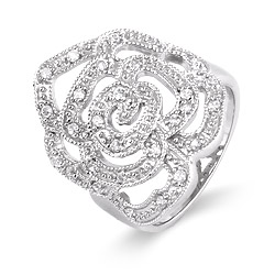 Julia Rose Pave Cubic Zirconia Ring