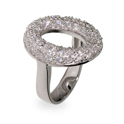Tiffany Inspired Pave CZ Sevillana O Ring