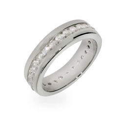 Allison's Channel Set CZ Eternity Band