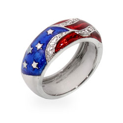 The American Flag Enamel Ring