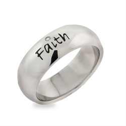 Faith Stainless Steel Friendship Ring