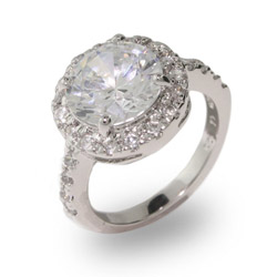 Amy Adams Replica Round Brilliant Cut CZ Engagement Ring