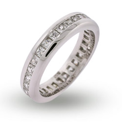 Alisons Princess Cut Channel Set CZ Eternity Band