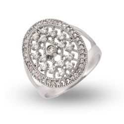 Bella's Twilight Inspired CZ Sterling Silver Engagment Ring