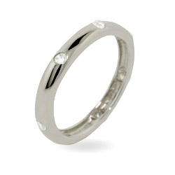 Tiffany Inspired Sterling Silver Etoile Stackable Wedding Band