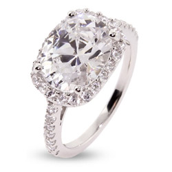 Kate's Exquisite Oval Cut Pave CZ Right Hand Ring