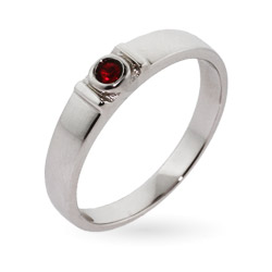 Stackable Sterling Silver Custom Birthstone Ring