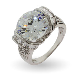 Dazzling 6 Carat Round Brilliant Cut Cocktail Ring