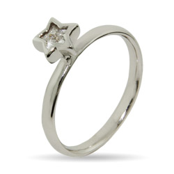 Stackable Reflections Twinkling CZ Star Stackable Ring