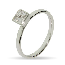 Stackable Reflections Princess Cut CZ Stackable Ring