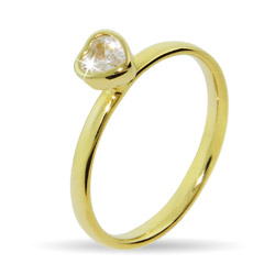 Stackable Reflections Gold Vermeil Heart Stackable Ring