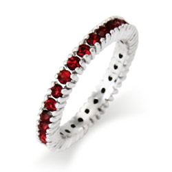Stackable Reflections Sparkling January Garnet Birthstone Stackable Ring