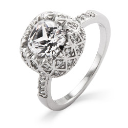 Ana's Art Deco Vintage Glam Diamond CZ Ring