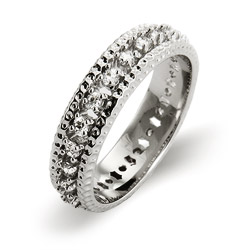 Christina's Triple Row Brilliant Cut CZ Eternity Band
