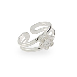 Pretty Sterling Silver Daisy Toe Ring