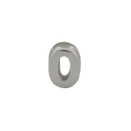Sterling Silver AlphaBead Number Zero