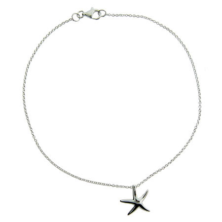 Tiffany Style Sterling Silver Starfish Anklet