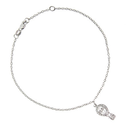 Tiffany Style Hot Air Balloon Charm Anklet