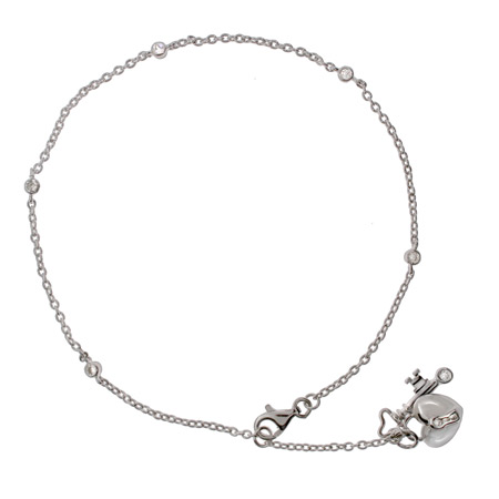 The Key To My Heart Sterling Silver Anklet